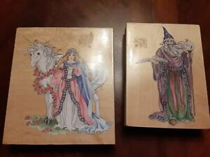 Large Stamps Happen Wizard And Princess Unicorn Stamps Nwot