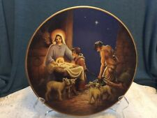 Adoration of the Shepherds 1986 Heritage House Collector Plate Vintage Cl35-5
