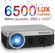"2K Projector, Bigasuo Full Hd Projector 6500 Lumens Hdmi Projector with 300"" Com"