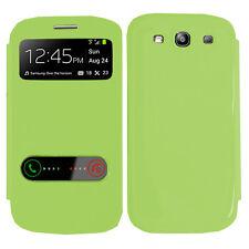 Funda Carcasa Plástico Vista funda VERDE Samsung Galaxy S3 i9300 / i9305 Neo