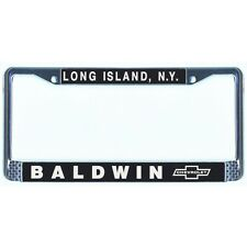BALDWIN MOTION CHEVROLET CHROME LICENSE PLATE FRAME COPO CORVETTE CAMARO NOVA