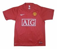 Manchester United 2007-09 Authentic Home Shirt (Excellent) L Soccer Jersey