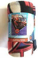 "Blanket Throw Fleece 45""x60"" Soft Warm Spider-Man Swing High NEW"