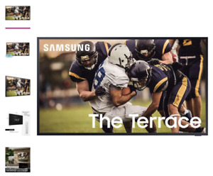 """Samsung QN75LST7TA The Terrace 75"""" Outdoor-Optimized QLED 4K UHD Smart TV with a"""