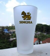 """SINGHA"" HighBall Beer Glass Collectible Premium Quality Lion Thai Design"
