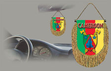 CAMEROON REAR VIEW MIRROR WORLD FLAG CAR BANNER PENNANT