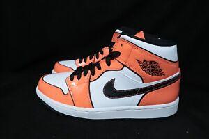 Sz 9.5 Nike AIR JORDAN 1 MID SE TURF ORANGE  DD6834-802 Track Orange/Black-White