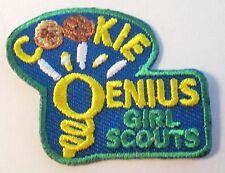 """New Girl Scout Cookie Sale Fun Patch """"Cookie Genius"""""""
