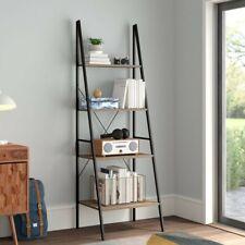 4-Tier Industrial Shelf Ladder Bookshelf Bookcase Wooden Home Office Brand Name