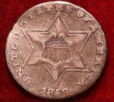 1858 Philadelphia Mint Silver Three Cent Coin