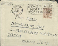 England Airmail Letter (205) Oxford after Sachsenburg 6. 3. 47 (845041)
