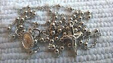 Silver rosary 925 sterling silver 12.6'' from Medjugorje  + BAG