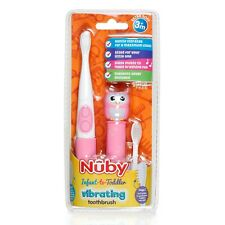 Nuby Infant-to-Toddler Electric Toothbrush with Cute Animal Character - Owl