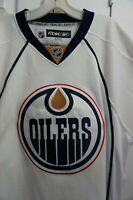 Reebok Premier NHL Jersey Edmonton Oilers Team White Navy Accents sz L