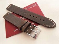 Cinturino pelle vintage ColaReb VENEZIA fango 18mm watch band strap