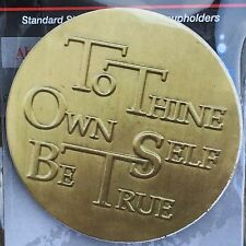 To Thine Own Self Be True AA Medallion Chip Auto Car Coaster Cup Holder Stone
