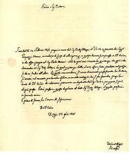 Lettera Autografo Paleontologo Filippo Nesti a Mancata Ricezione Quietanza 1848