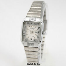 NEW CITIZEN BATTERY QUARTZ WATCH for Women Silver Tone White Gift Box * 15D_W93