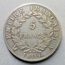 Napoléon Ier - 5 Francs - Revers Empire - 1809 A  Paris