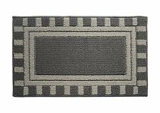 "Soft and Durable Microfiber Bathroom Shower Accent Rug, 30"" x 18"" Gray"