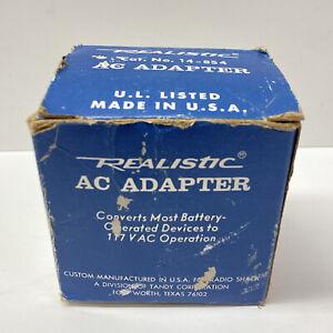 Vintage Radio Shack Realistic AC Adapter 6V DC 150 mA, 14-854