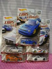 2017 Cars & DONUTS Hot Wheels McLaren/Datsun/Subaru/BMW/Alfa Car Culture Set 5