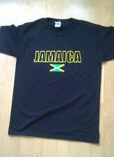 Giamaica T SHIRT NERO TAGLIA LARGE