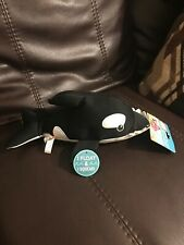 Animal Planet Killer Whale Plush Dog Toy With Squeaker