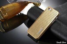 Design Bandes De luxe coque pour Apple iPhone 5s 5 Sac Housse - doré (0FGO)