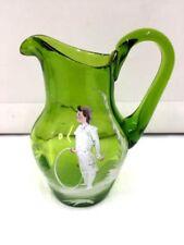 Green Art Glassware Victorian Date-Lined Glass