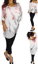 Markenlose hüftlange Damenblusen, - tops & -shirts mit Wasserfall-Ausschnitt