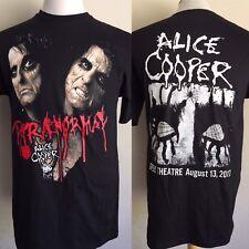 """ALICE COOPER (2017) Los Angeles """"Paranormal"""" Concert Tour Dates T-Shirt Medium"""