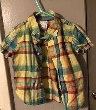 Adorable Madras Polo Ralph Lauren Button Down Shirt Size 18 Months Euc