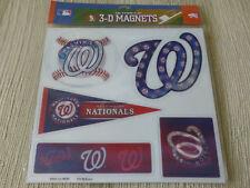 MLB Washington Nationals Baseball Car Fridge 5-Ultraflip Holographic 3-D Magnets
