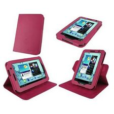 "rooCASE for Samsung Galaxy Tab 2 7"" Dual-View Vegan Leather Case Magenta Lot C16"