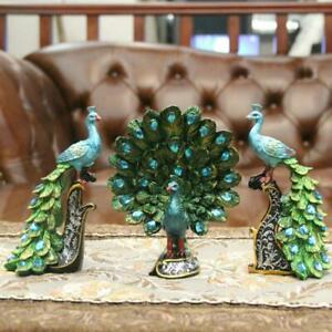Peacock Resin Crafts Store Wedding Birthday Gift Figurine Home Art Decor Small