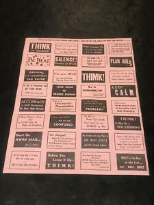 Rare Vintage 1966 Jetco Advertising E-Z Stick Gummed Labels Paper Sticker Sheet!