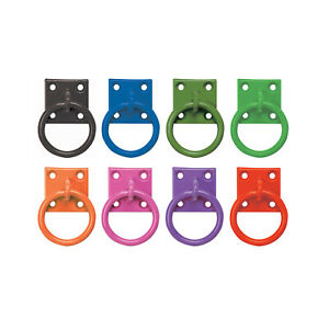 Perry Equestrian Tie Ring on Plate for Chain or Rope - Choose from 6 Colours