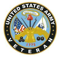 US Army Veteran 4'' Sticker Military Armed Forces