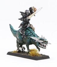 Rare OOP Citadel Elves Warhammer Dark Elf Malus Darkblade on Cold One NIB Metal