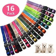 stpiater 16 Pcs Puppy Id Collars Soft Nylon Breakaway Litter Collars M