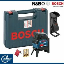 BOSCH LASER LINE LEVEL GCL2-15 with carry case + wall mount 0601066E02