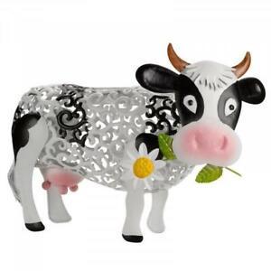 Smart Garden Solar Metal Silhouette Daisy Cow Garden Ornament Decoration
