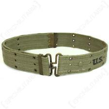 WW2 US Olive Pistol Belt - Brass - Repro American Webbing Army Uniform Soldier