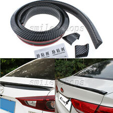 No Drilling Carbon Fiber Car Rear Tail Fin Empennage Trunk Spoiler Wing Lip