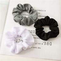 9 Pieces Candy Color Scrunchies Women Girls Cotton Elastic Hair Ties Ropes