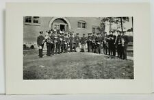 RPPC Indian Settlement School & Students with Military Band c1907  Postcard N16