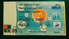 ARABIE SAOUDITE DENMARK WORLD CUP 1998 FRANCE N 5 TICKET COUPE MONDE DANEMARK