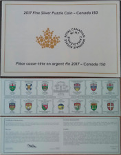Certificate of Authenticity from: 1867-2017 Puzzle Coin Canada150 Silver Proof