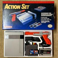 Nintendo Entertainment System NES Action Set Console Red Zapper Original Box CIB